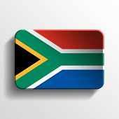 South Africa 3D Button
