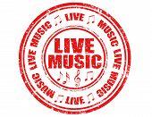 Live Music-stamp