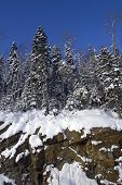 winter cliff