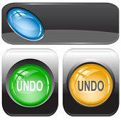 Undo. Internet buttons. Raster illustration. Vector version is in my portfolio.