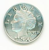 10 Dollar Silver Coin Front