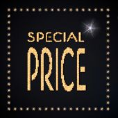 3D Render Of A Glowing Special Price Symbol Glittering Golden