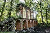 Old Aqueduct Built Of Brick