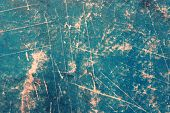 Green Grunge Scratched Paper Background
