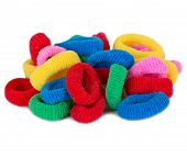 Colorful Scrunchies Isolated
