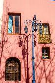 Streetlight And Pink Wall