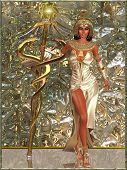stock photo of scepter  - Imperial Goddess  - JPG
