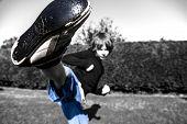 Boy with Karate Kick