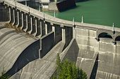 stock photo of dam  - Diablo Dam Washington USA - JPG
