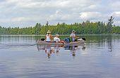 Paddling On A Wilderness Lake
