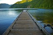 Dock Over Crescent Lake