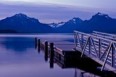 stock photo of u-boat  - Boats Dock Lake McDonald  - JPG