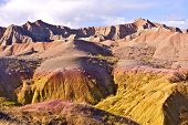 Badlands Eroded Buttes