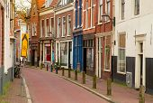 street in old town of Haarlem