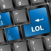 Lol Button On Computer Keyboard Pc Key
