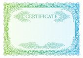 Template certificate currency and diplomas. Vector illustration