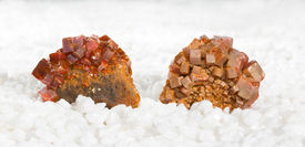 image of ore lead  - Specimens covered in tabular wulfenite crystals a lead molybdate mined as a molybdenum ore and used metaphysically in white magic as an energising stone and for astral travel - JPG