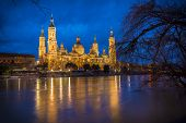 El Pilar Basilica And Ebro River (zaragoza, Spain)