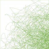 Green Spirals on white