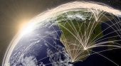 Постер, плакат: Network Over South Africa