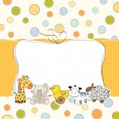 foto of baby sheep  - baby shower card with animals - JPG