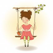 Young Girl In A Swing