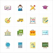 Flat Education Icons - Set 1