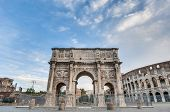 Arch Of Constantine In Rome, Italy