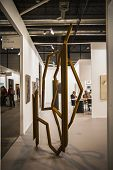 MADRID, SPAIN - 19 FEBRUARY 2014.The contemporary art fair ARCO begins its 33rd edition with Finland as a guest country and more than 219 galleries.