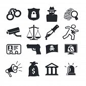 picture of incognito  - Crimes icons set - JPG