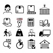 Delivery icons set / Black