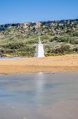 pic of gozo  - Red Sandy Beach located on the northern side of the Maltese island of Gozo - JPG