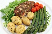 Healthy Restaurant Diet Menu With Copy Space