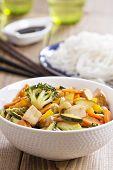 Tofu stir fry with vegetables