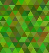Triangle seamless pattern in vector