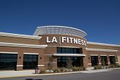 JACKSONVILLE, FL-FEBRUARY 16, 2014: An LA Fitness health club in Jacksonville. LA Fitness is a privately owned American health club chain with over 500 clubs across the United States and Canada.