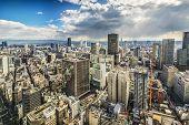 Osaka Japan aerial cityscape