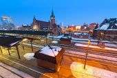 GDANSK, POLAND - 4 FEB 2014: Main railway station in the city center of Gdansk on 4 February 2014. T