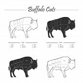 Buffalo cut scheme - b&w