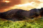 Mountains Sunset Landscape