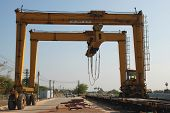 Reach stacker big machine for stack container
