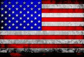 foto of iron star  - old metal flag Of USA - JPG