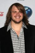 LOS ANGELES - FEB 20:  Caleb Johnson at the American Idol 13 Finalists Party at Fig & Olive on February 20, 2014 in West Hollywood, CA
