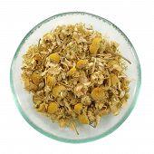Herbal Tea, Heap Of Camomile Flowers.