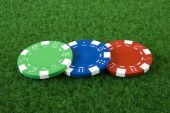 3 poker chips