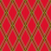 Rhombic Tartan Red Fabric Seamless Texture
