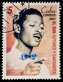 CUBA - CIRCA 2007: A stamp printed in cuba dedicated to authors and singers of Cuban son, shows Benny More, circa 2007