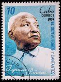 CUBA - CIRCA 2007: A stamp printed in cuba dedicated to authors and singers of Cuban son, shows Ignacio Pieiro, circa 2007