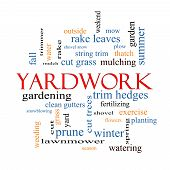 Yardwork Word Cloud Concept