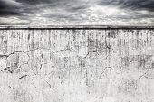 Wall And Dark Sky Background